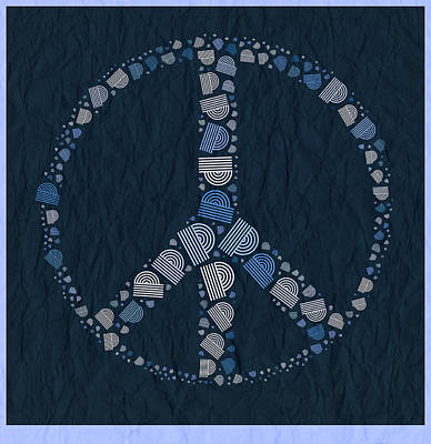 Peace Symbol Design - Bld01t01   Poster by Variance Collections