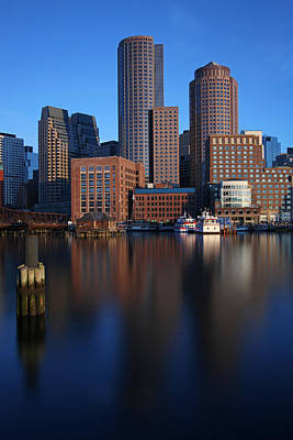 Peaceful Boston Poster by Juergen Roth