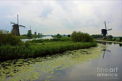 Peaceful Kinderdijk Poster