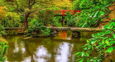 Peaceful Morning At Kubota Gardens Poster