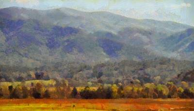 Peaceful Morning In The Smoky Mountains Poster by Dan Sproul