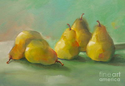 Poster featuring the painting Peaceful Pears by Michelle Abrams