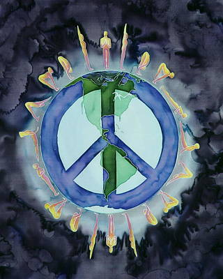 Peaceful Salutations Poster by Carolyn Doe