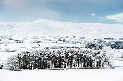 Peaceful Snow Scene In The Howgills Poster