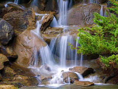 Poster featuring the photograph Peaceful Waterfall by Jordan Blackstone