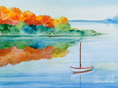 Peacefully Waiting Watercolor Poster