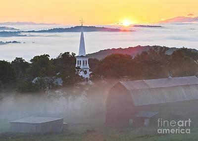 Peacham Vermont Sunrise Poster by Alan L Graham
