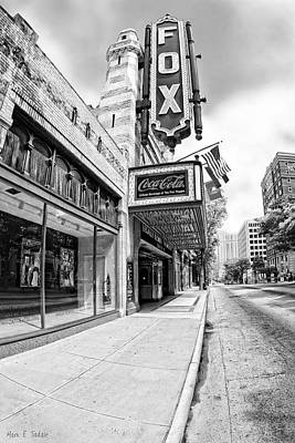Poster featuring the photograph Peachtree Street And The Fox Theatre - Atlanta by Mark E Tisdale