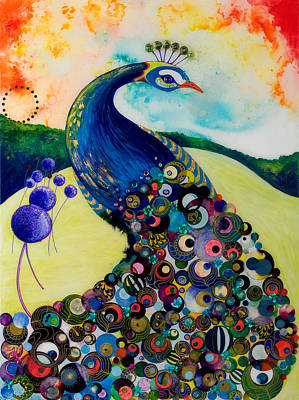 Peacock Blue Poster by Dawn Beedell
