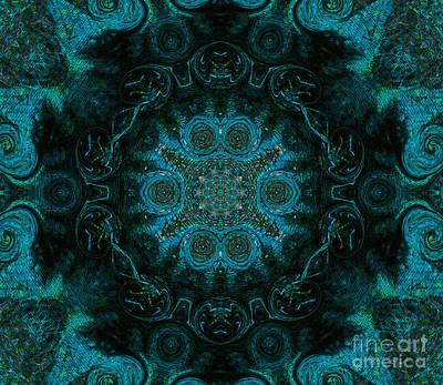 Peacock In The Kaleidoscope Poster by R McLellan