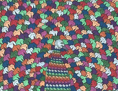 Peacock Plumage Poster