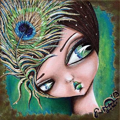 Peacock Princess Poster by Lizzy Love of Oddball Art Co