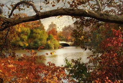 Peak Autumn In Central Park Poster by Jessica Jenney