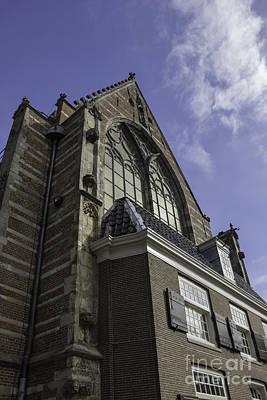 Peak Oude Kerk Amsterdam Poster by Teresa Mucha