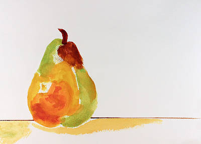 Poster featuring the painting Pear In Autumn by Frank Bright