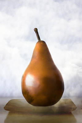 Pear In The Clouds Poster by Carol Leigh