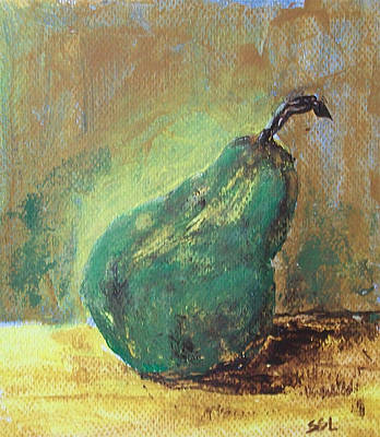 Poster featuring the painting Pear by Jane  See