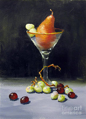 Poster featuring the painting Pear Martini by Carol Hart