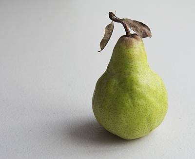 Poster featuring the photograph Pear Still Life Protrait by Jocelyn Friis