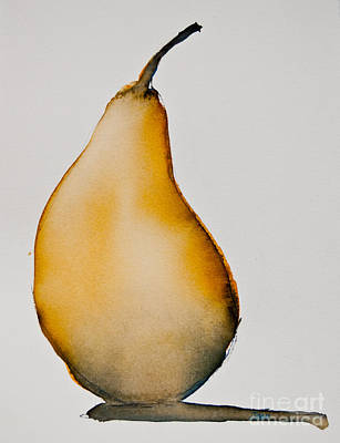 Poster featuring the painting Pear Study by Jani Freimann