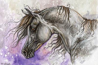 Pearl Arabian Horse Poster by Angel  Tarantella
