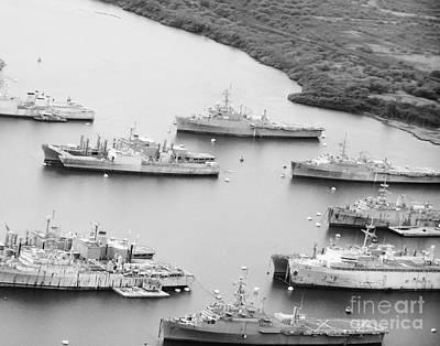 Pearl Harbor Battleships Poster