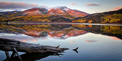 Pearl Lake Sunset Panorama 1 Poster
