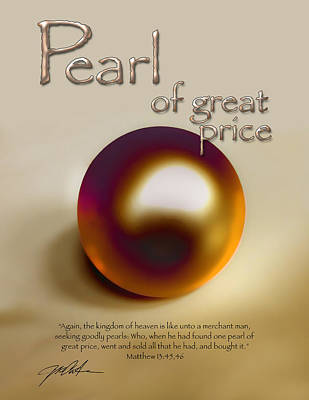 Pearl Of Great Price Poster by Ron Cantrell