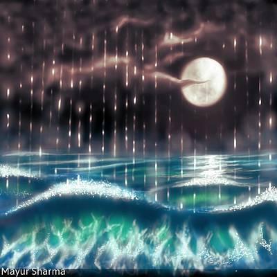 Pearl Rain @ Precious Pearl Ocean Poster by Mayur Sharma