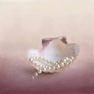 Pearls On A Shell Poster