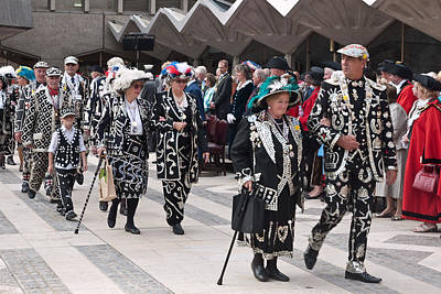 Pearly Kings And Queens Parade. Poster