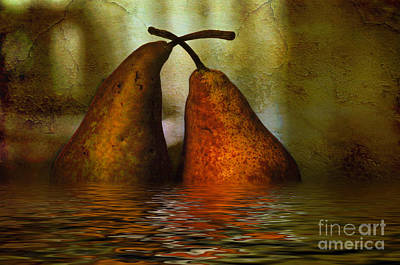 Pears In Water Poster by Kaye Menner