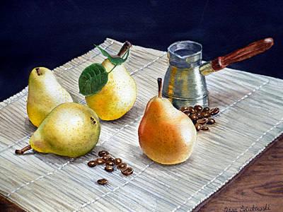Pears Poster by Irina Sztukowski