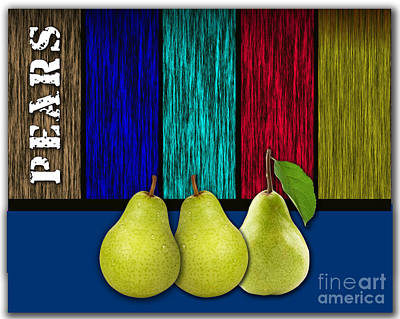 Pears Poster by Marvin Blaine