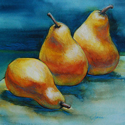 Pears Of Three Poster by Jani Freimann