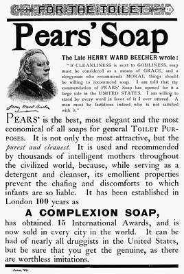 Pears' Soap Ad, 1889 Poster