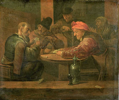 Peasants Playing Cards, Daniel Boone Poster by Litz Collection