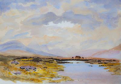Peat Bogs Of Connemara Poster by Rob Hemphill