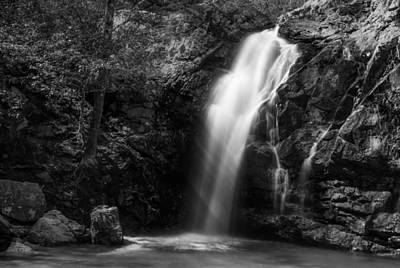 Peavine Falls In Monochrome Poster by Shelby  Young