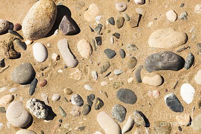 Pebbles On Beach Pattern Poster