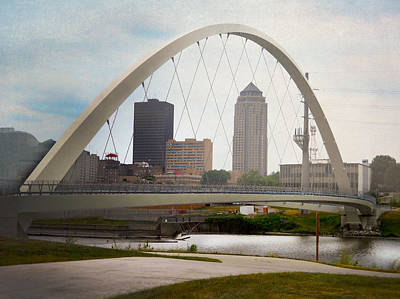 Poster featuring the photograph Pedestrian Bridge by Judy Hall-Folde
