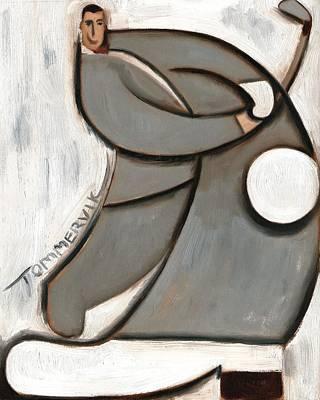 Pee-wee Herman Golf Swing Art Print Poster