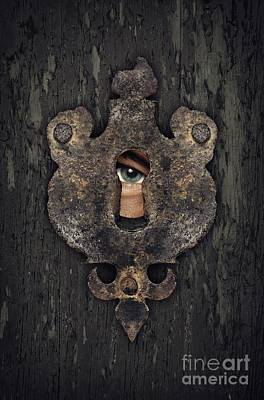 Peeking Eye Poster by Carlos Caetano