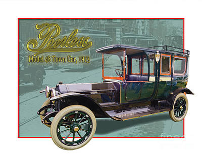 Peerless Model 48 Town Car Poster by Dan Knowler