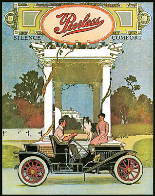Peerless Poster by Vintage Automobile Ads and Posters