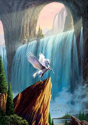 Pegasus Kingdom Poster by Garry Walton