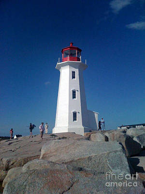 Peggy's Cove Lighthouse Poster by Brenda Brown
