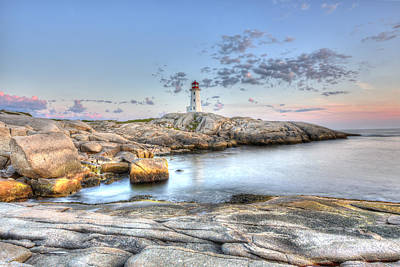 Peggy's Cove Lighthouse Poster by Shawn Everhart