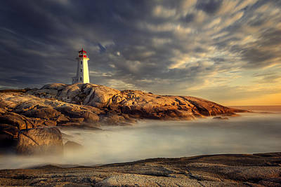 Peggy's Cove Nova Scotia Poster by Magda  Bognar
