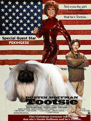 Pekingese Art - Tootsie Movie Poster Poster
